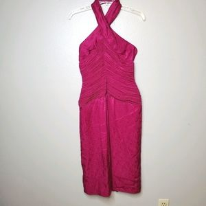 Lillie Rubin 2/4 Vintage dark pink halter dress